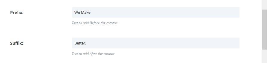 Heading Rotator Prefix and Suffix Nomination