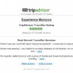 tripadvisor review module in action