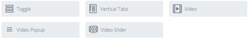 video popup module in divi page builder module list
