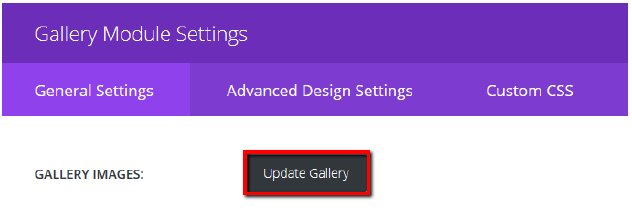 Update gallery in gallery module settings