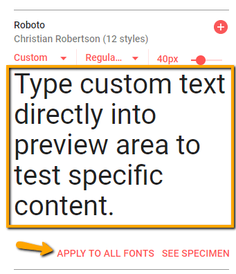 preview specific text google fonts