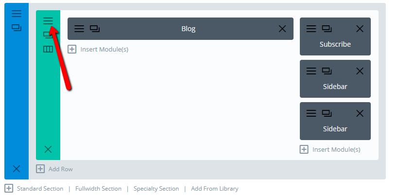 edit row settings