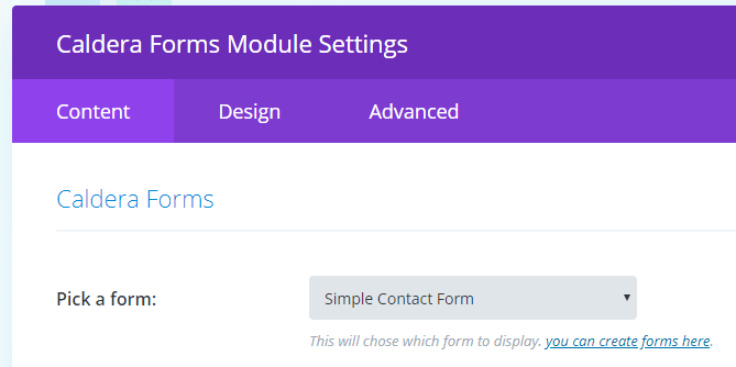 select form or create a new one