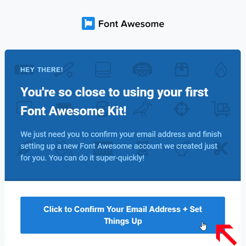 Font Awesome account - confirm email